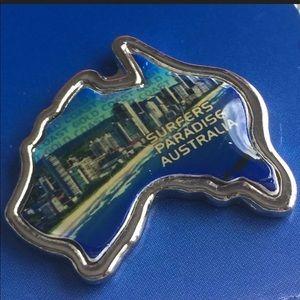 AUSTRALIA PIN, COLLECTIBLE Vintage Label Pin
